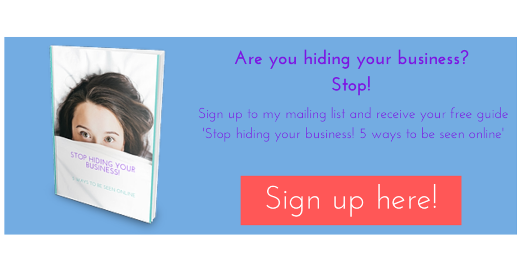 stop hiding your business