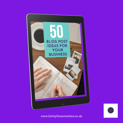 50 blog post ideas shop image