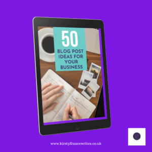 book with 50 blog topic ideas for your business