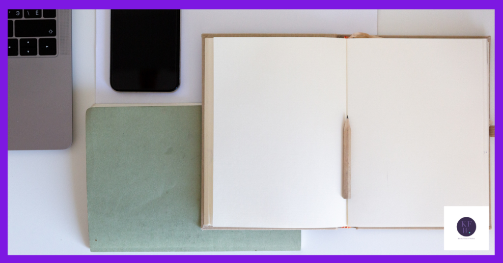 Blank page to create a New Year marketing plan