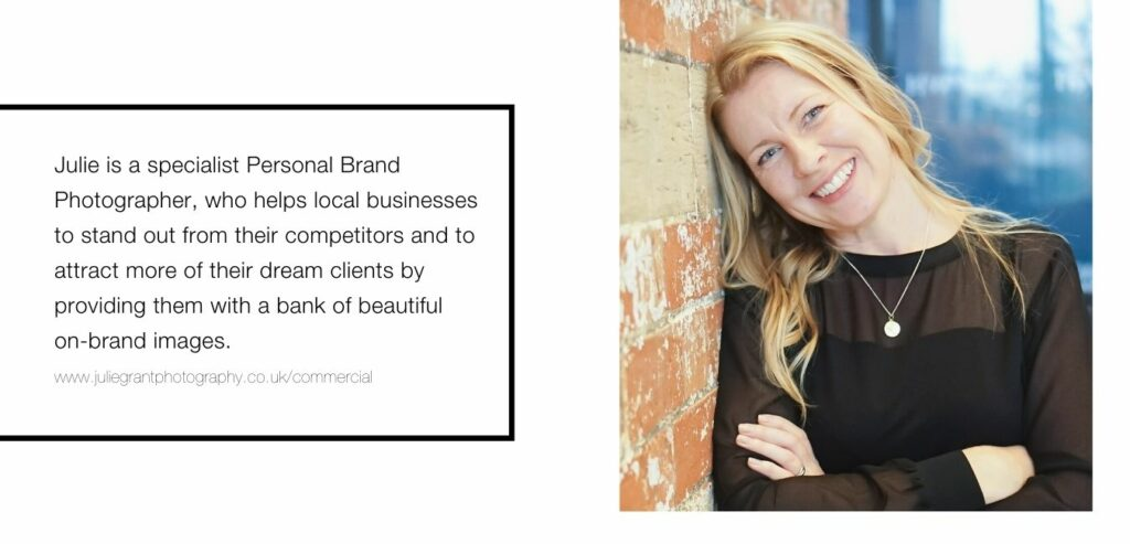 Julie Grant - personal brand photographer creating beautiful branding images.