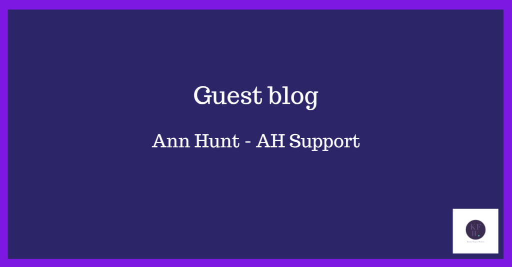 Guest blog from my VA Ann Hunt