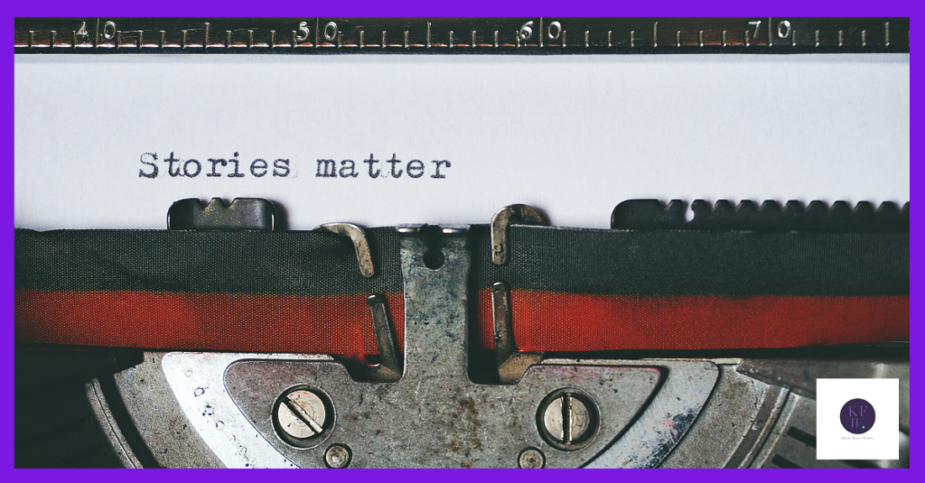 Typewriter showing that stories matter in your email marketing.